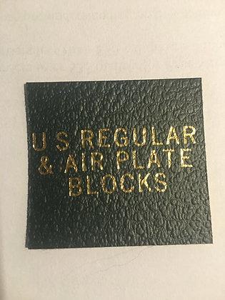 """LB-049   """"U.S. Regular & Air Mail Plate Block"""" label for Scott binders"""
