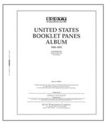 BP-P1 Scott U.S. Nat'l  Booklet Pane Pages Part 1 1900-1993