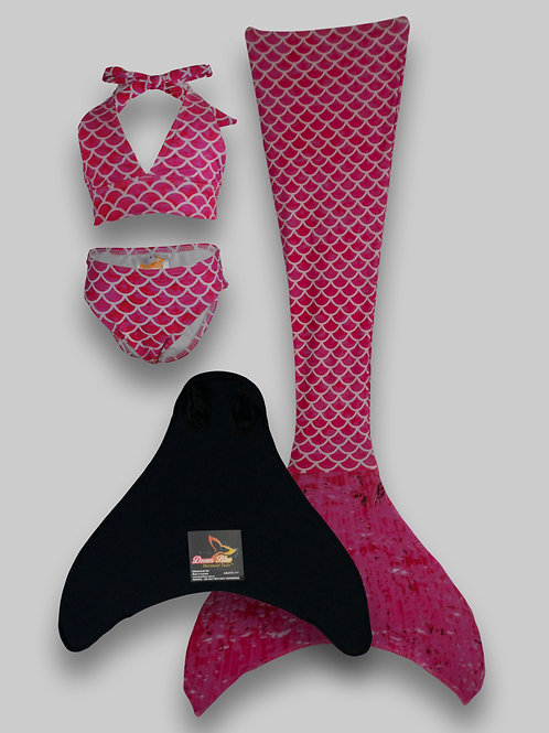 Marella Mermaid Tail, Monofin & Bikini Set