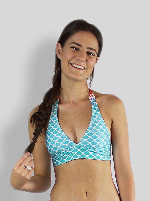 Kishiko Coral Bikini Top