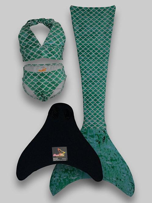 Sirena Mermaid Tail, Monofin & Bikini Set