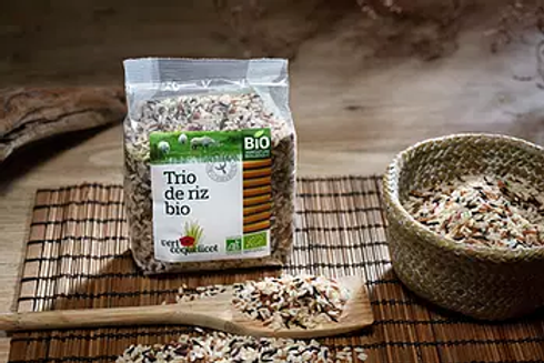 Trio de riz de Camargue - Vert Coquelicot
