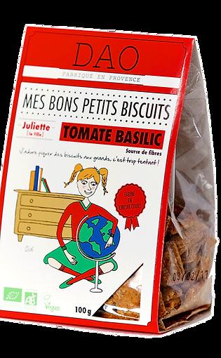 Biscuits apéritif Tomate basilic - Dao