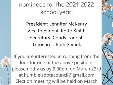 Nomination Committee Slate 2021-2022