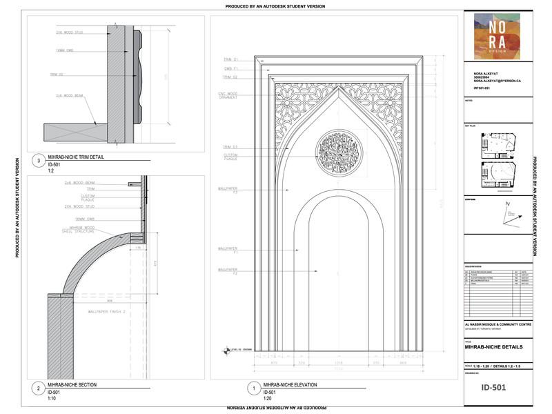 Mihrab Detail Drawings