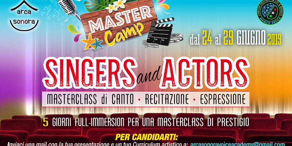 MASTER CAMP Singers and Actors