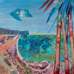 Mallorca Seascape (abstract collage)
