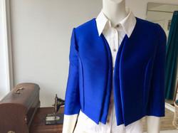 Veste Bleu réalisée sur mesure