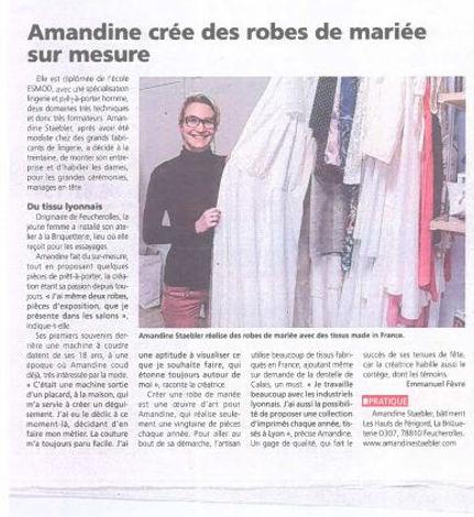 Amandine crée des robes de mariée sur me