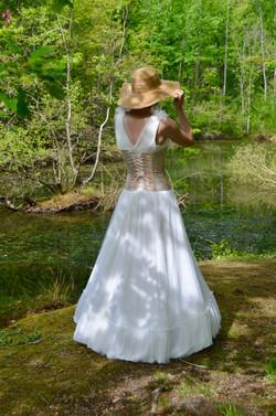 Robe de mariée avec corset