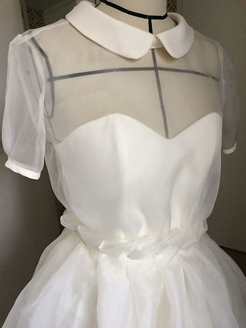 Robe col claudine mariage