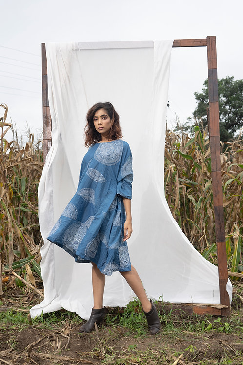 Pleated Organic Cotton Upcycled Sustainable Dress