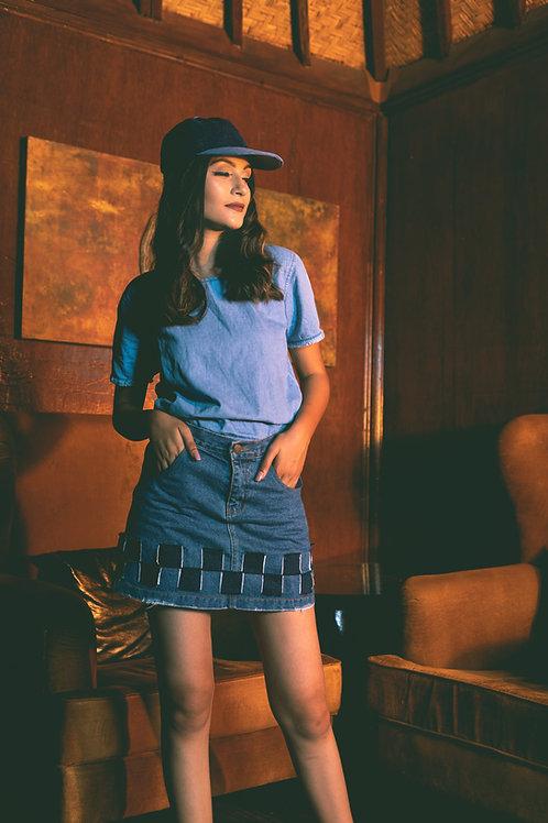 Denim Weave Skirt