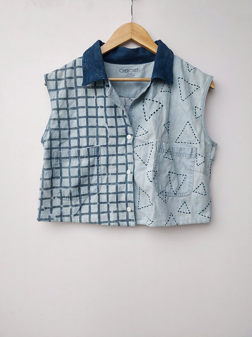 Checks triangle shirt