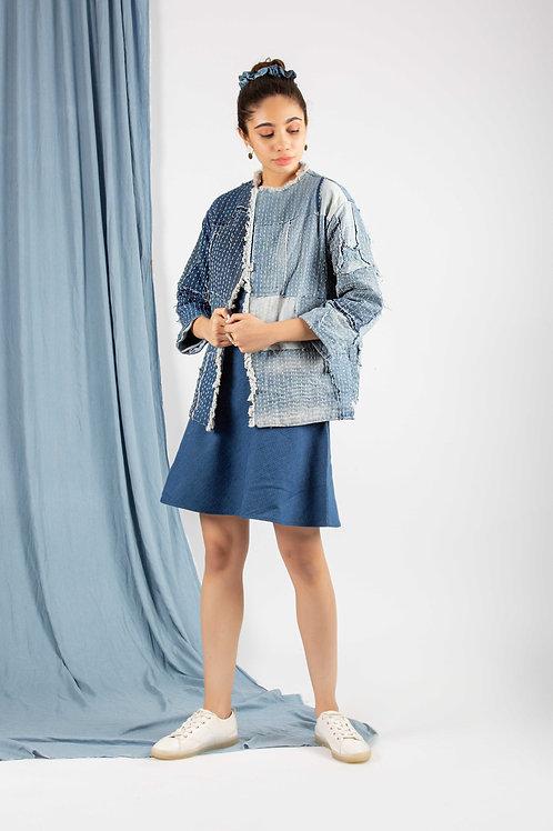 Relaxed Denim Sashiko Jacket