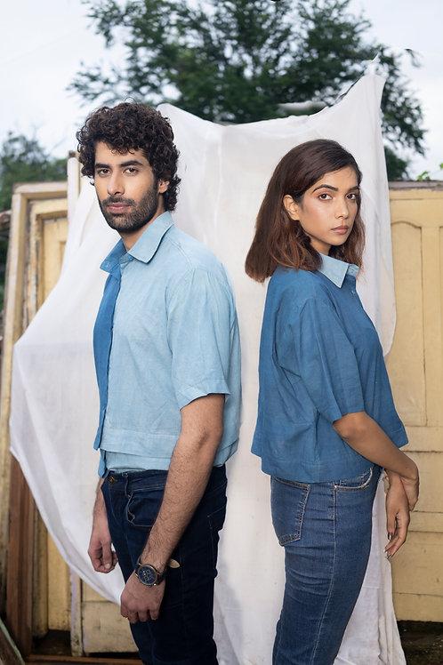 Light Blue Convertible Shirt