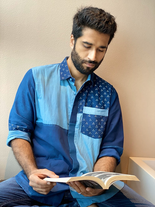 Organic Cotton Patch Shirt - Dark