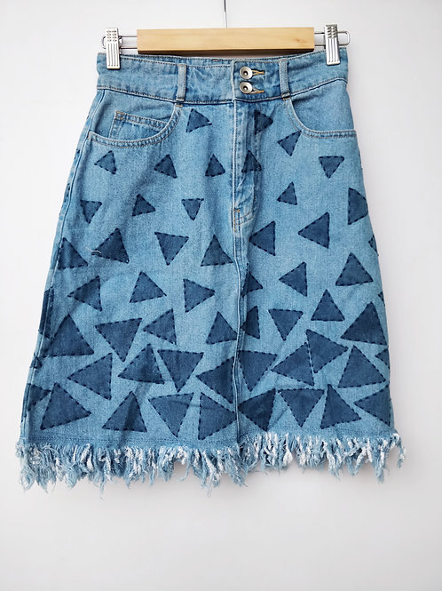 Triangle Embroidered Skirt
