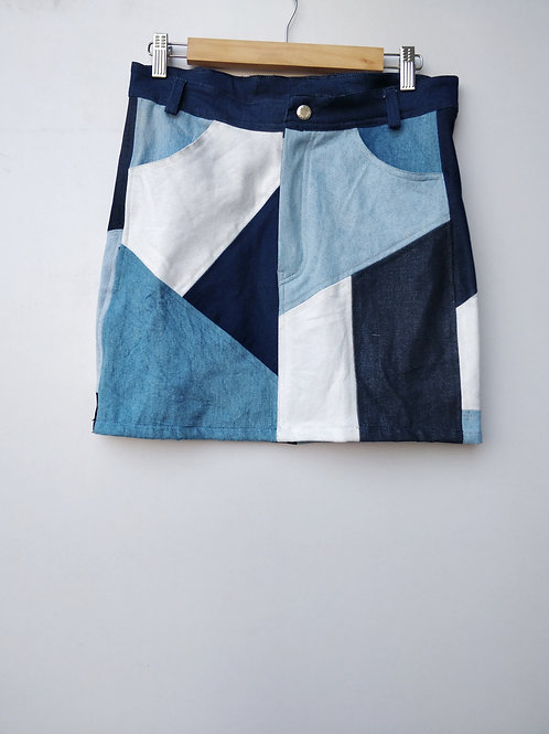 Patch Colorblock Skirt