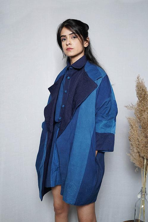 Reversible Stripe Relaxed Jacket