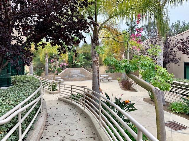 Water fountain in Encinitas, CA