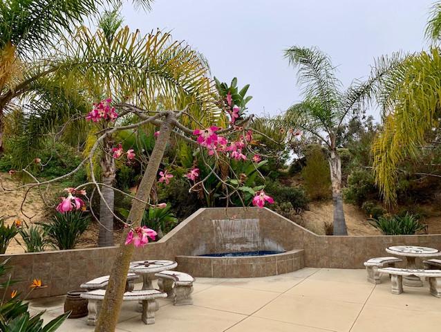 Outside fountain in Encinitas, CA