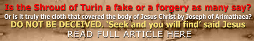 Jesus Has Risen | Shroud of Turin | Fake or Forgery | Seek and you will find | Full Article