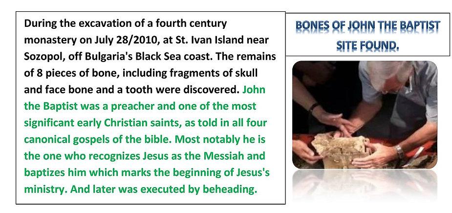 Bones Of John The Baptist DISCOVERIED