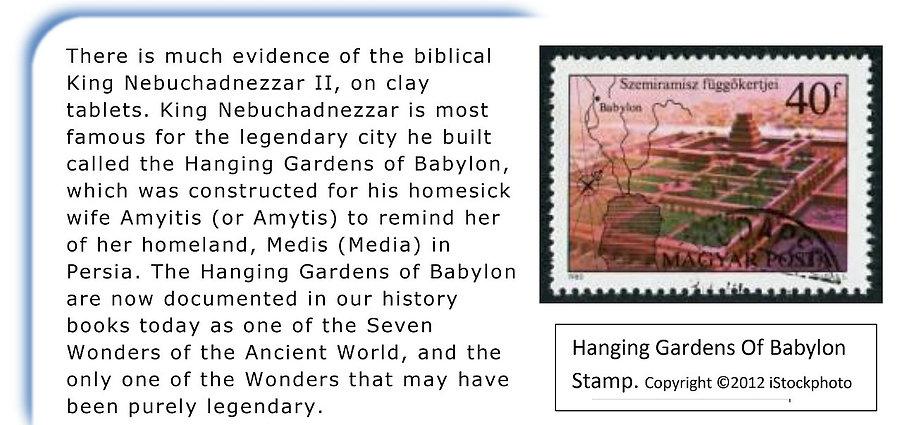 Evidence of the biblical Nebuchadnezzar.