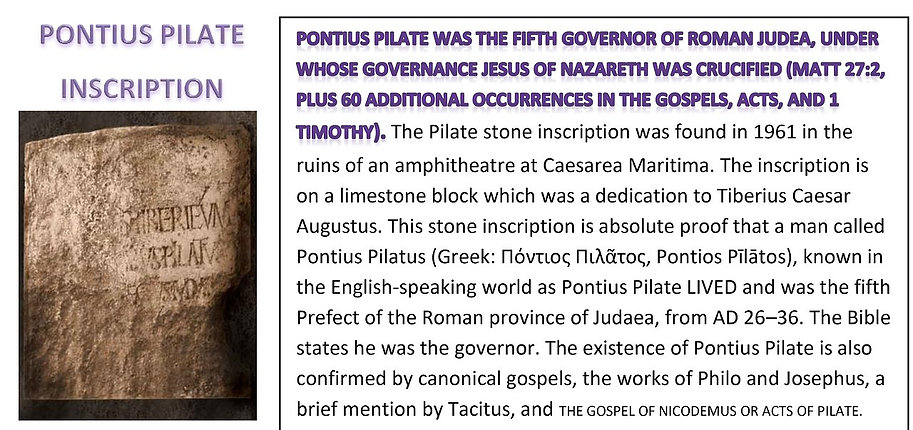 PONTIUS PILATE INSCRIPTION