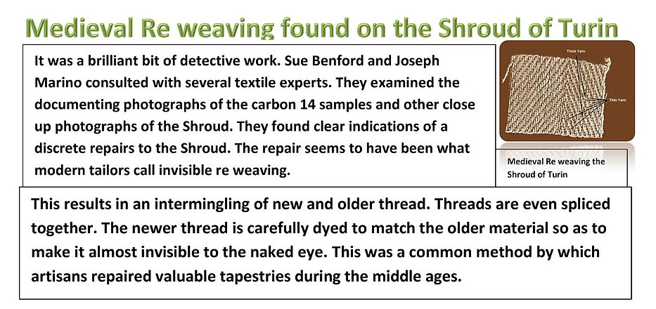 Medieval Re weaving on the Shroud of Turin