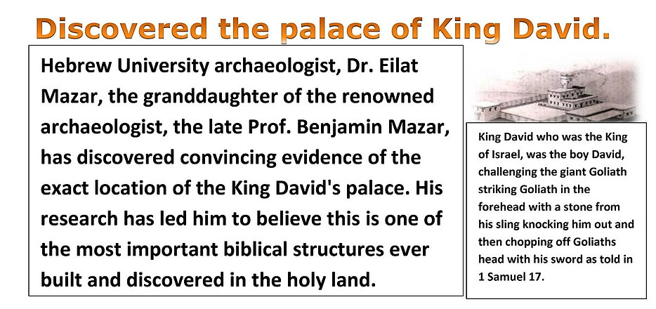 Discovered the palace of King David.