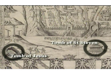 ancient maps show the tomb of St Stephens.