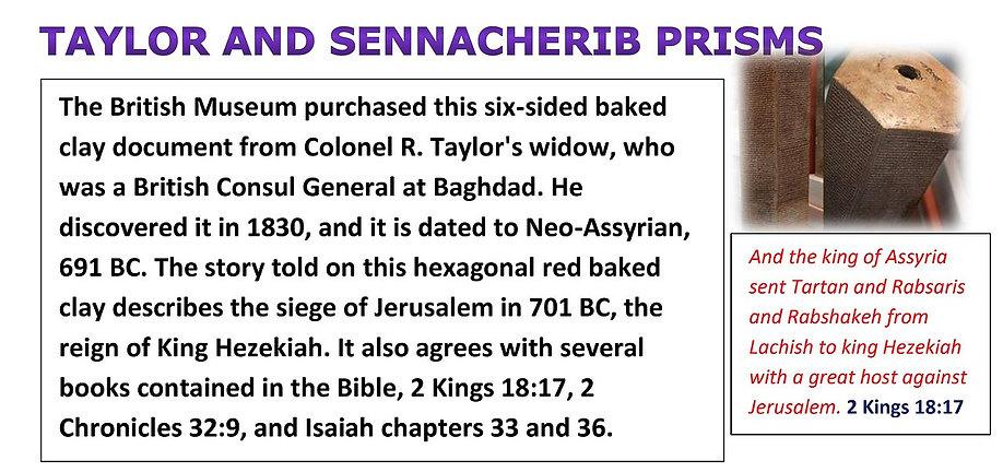 Taylor and Sennacherib Prisms