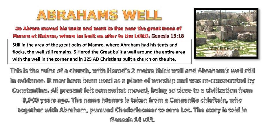 ABRAHAMS WELL Genesis 13:18