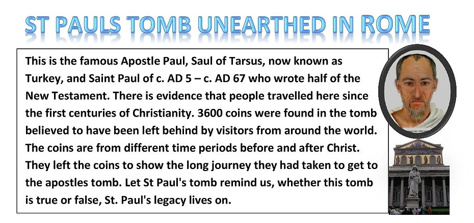 ST PAULS TOMB UNEARTHED IN ROME