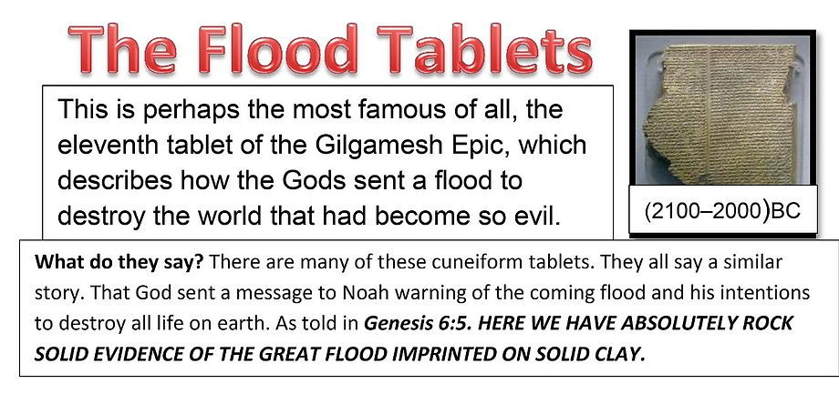 The Flood Tablets of Gilgamesh.