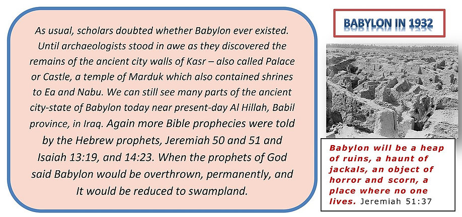 Ancient city of Babylon discovered.