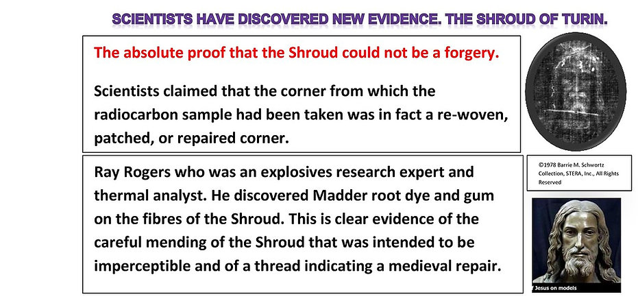 The absolute proof that the Shroud could not be a forgery.