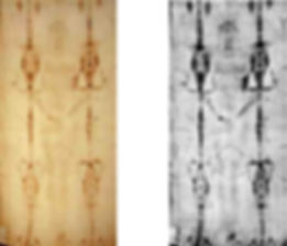 Jesus Has Risen | Front View of the Shroud | Blood Stained | Shroud