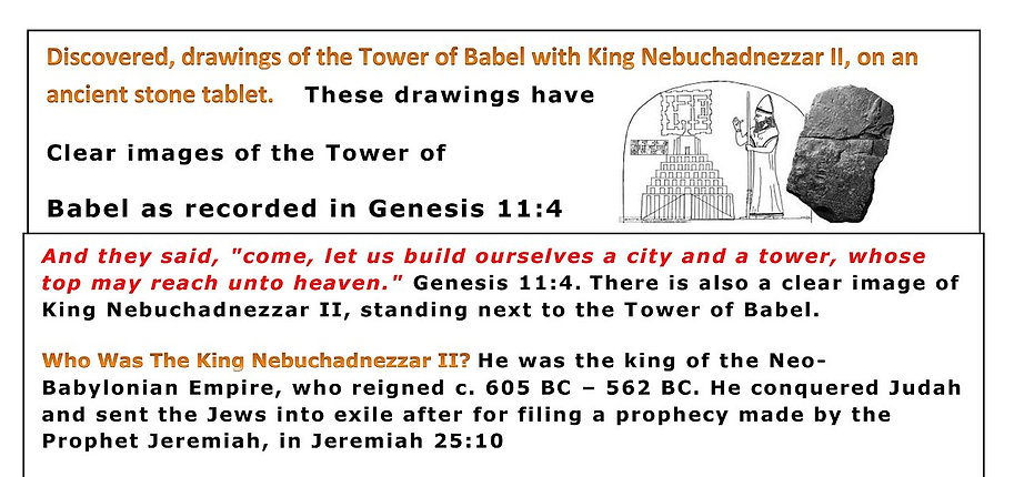Discovered, drawings of the Tower of Babel