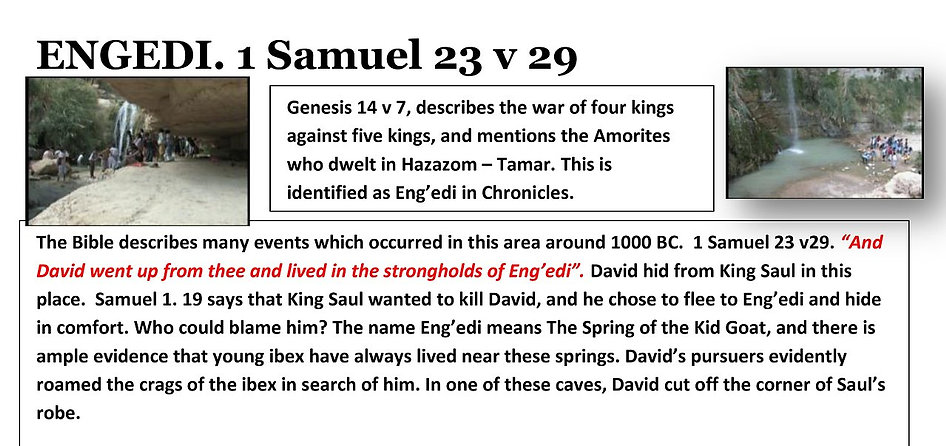 This story is told in Samuel 23 v 29