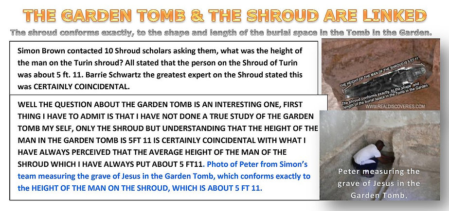 THE GARDEN TOMB & THE SHROUD ARE LINKED