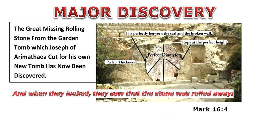 The Garden Tomb Great Stone discoverd.
