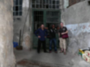 Simon Peter and Einar out side what is believed to be Jeremiah Grotto