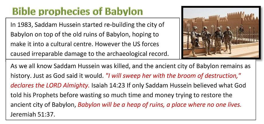 Bible prophecies of Babylonian