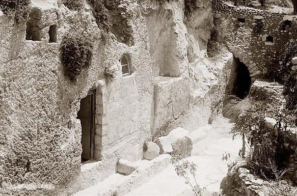 Here is the original stopper in the garden tomb