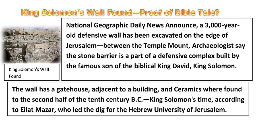 King Solomon's Wall Found—Proof of Bible Tale?