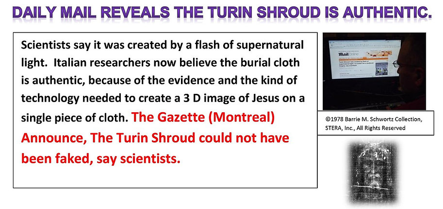 Jesus Has Risen | Shroud of Turin is Authentic | Daily Mail | 3D Image of Jesus | The Gazette