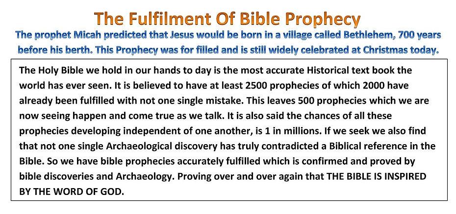 Bible prophecies.